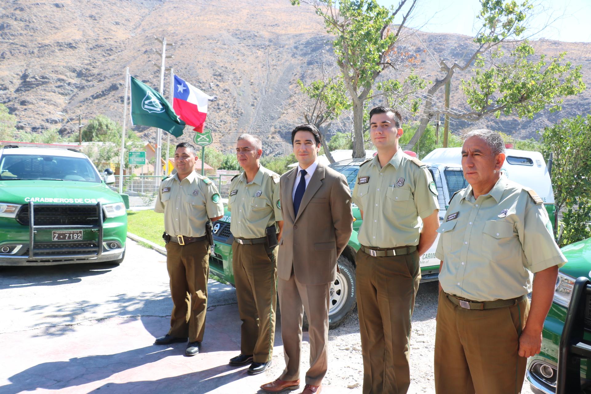 Gobernador del Huasco  realizó visita la Tenencia de Alto del Carmen