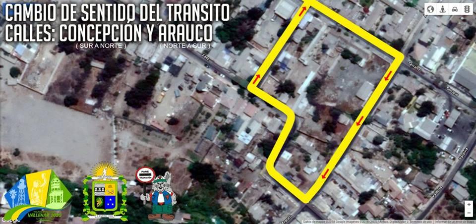 Revisa las calles que cambian de sentido en Vallenar