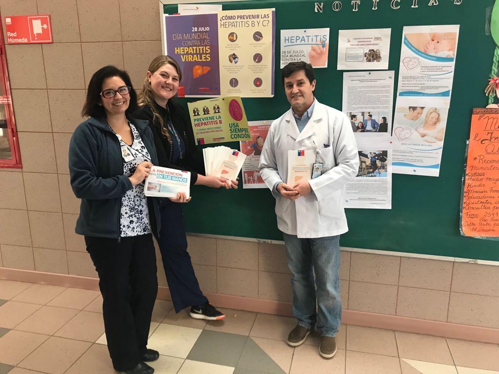 Profesionales del HPH entregan información sobre la hepatitis