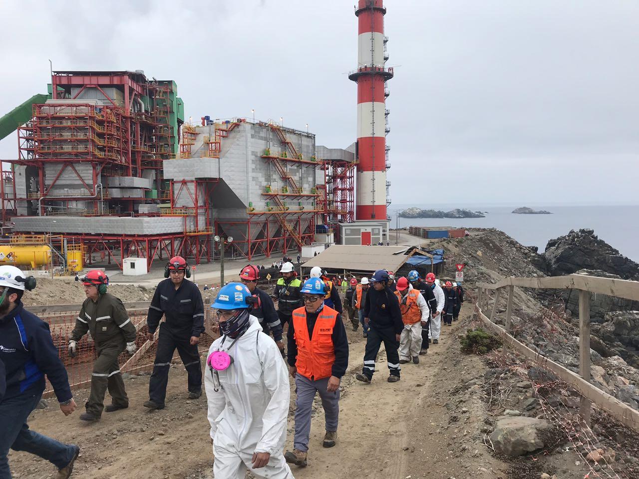 Trabajadores de Guacolda participaron activamente en masivo simulacro de tsunami