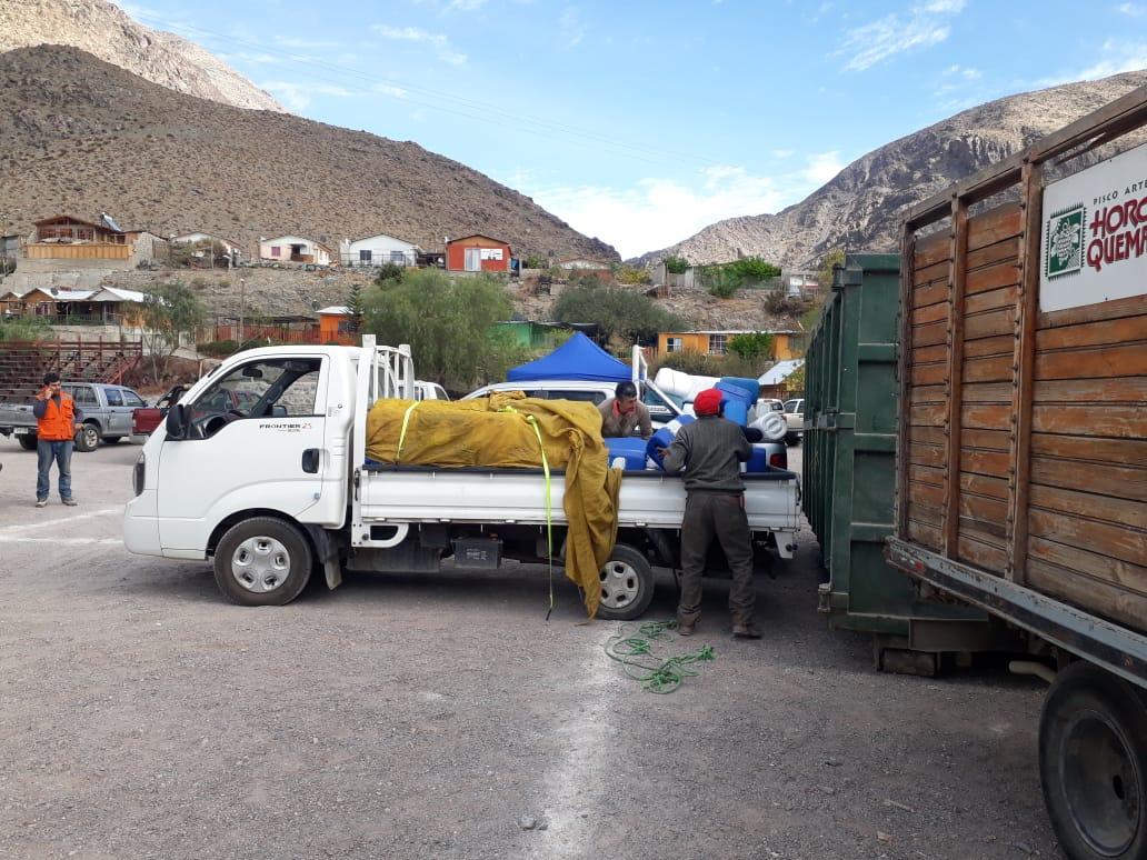 Agricultores de Alto del Carmen reciclaron más de 7 mil envases de productos químicos