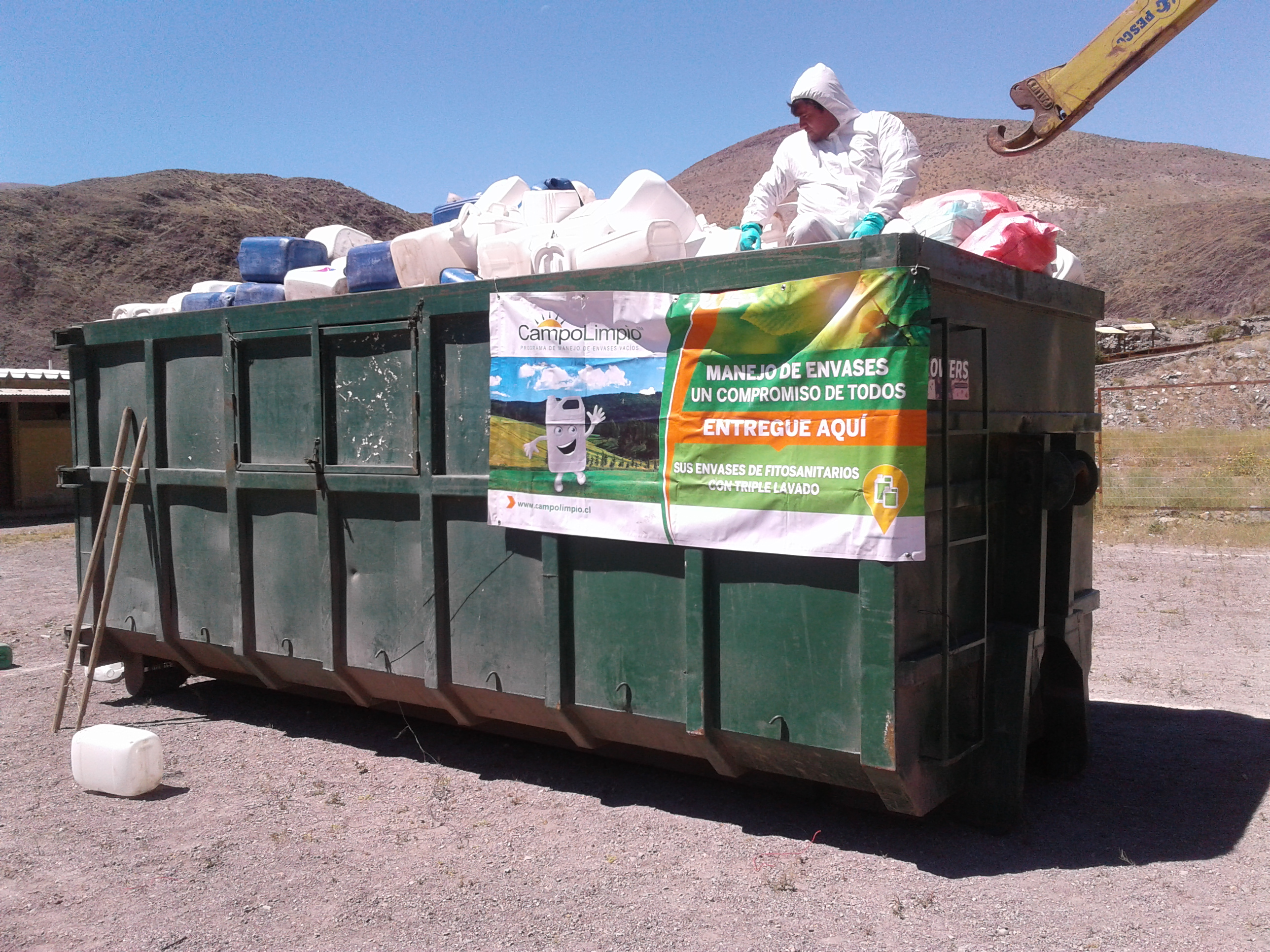 Agricultores de Alto del Carmen reciclaron más de 7 mil envases