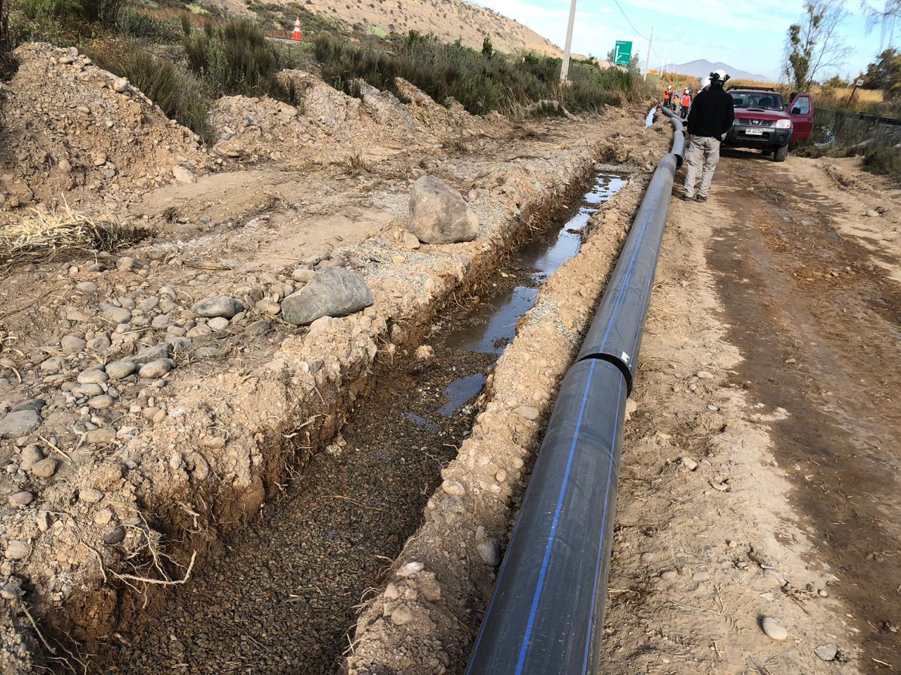 Aguas Chañar comienza obras renovación en tuberías que va de Vallenar hasta Huasco