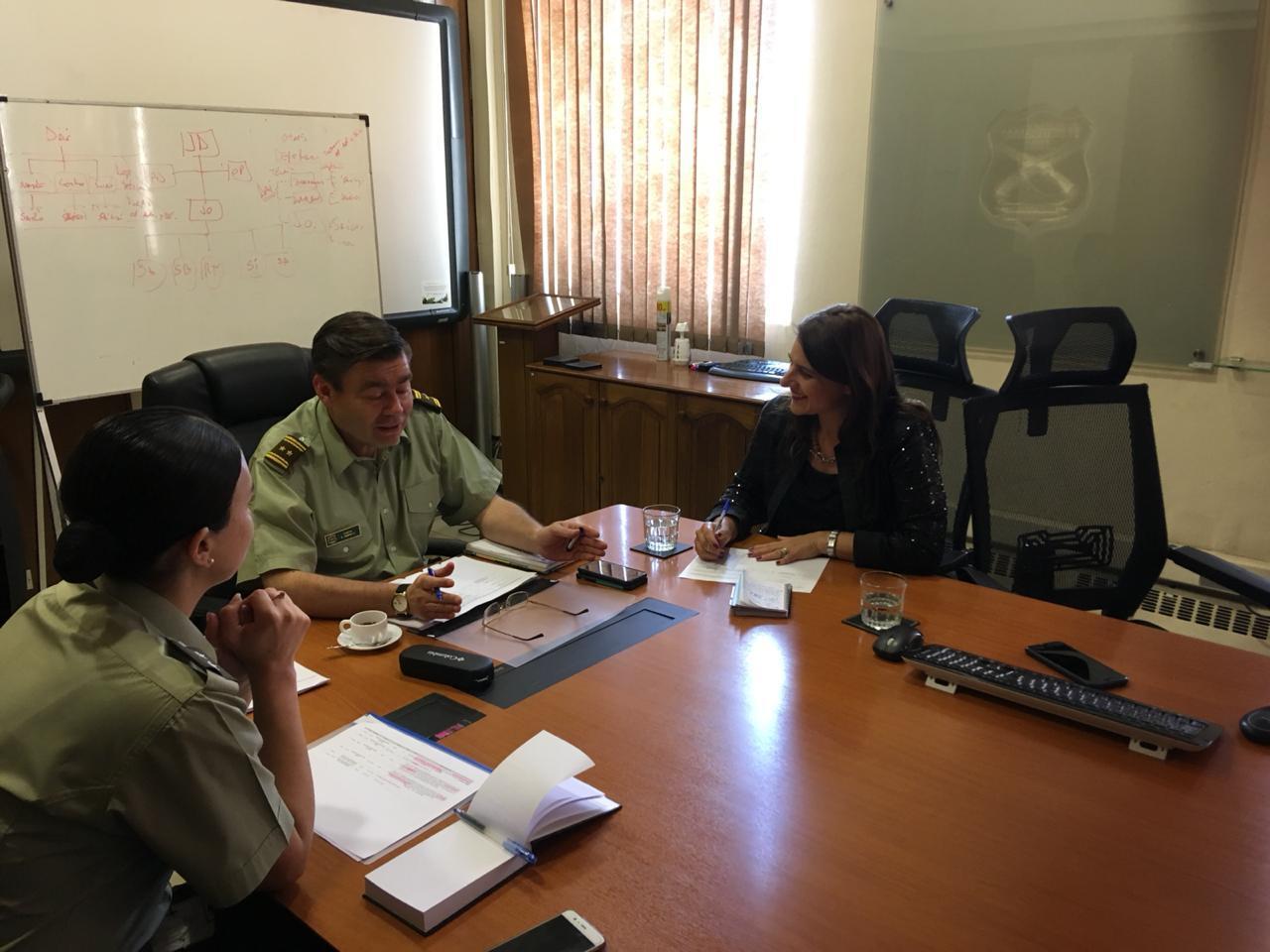 Diputada Sofía Cid se reúne con el  Director de Planificación y Desarrollo de Carabineros de Chile para abordar el presupuesto de inversión para la seguridad en Atacama