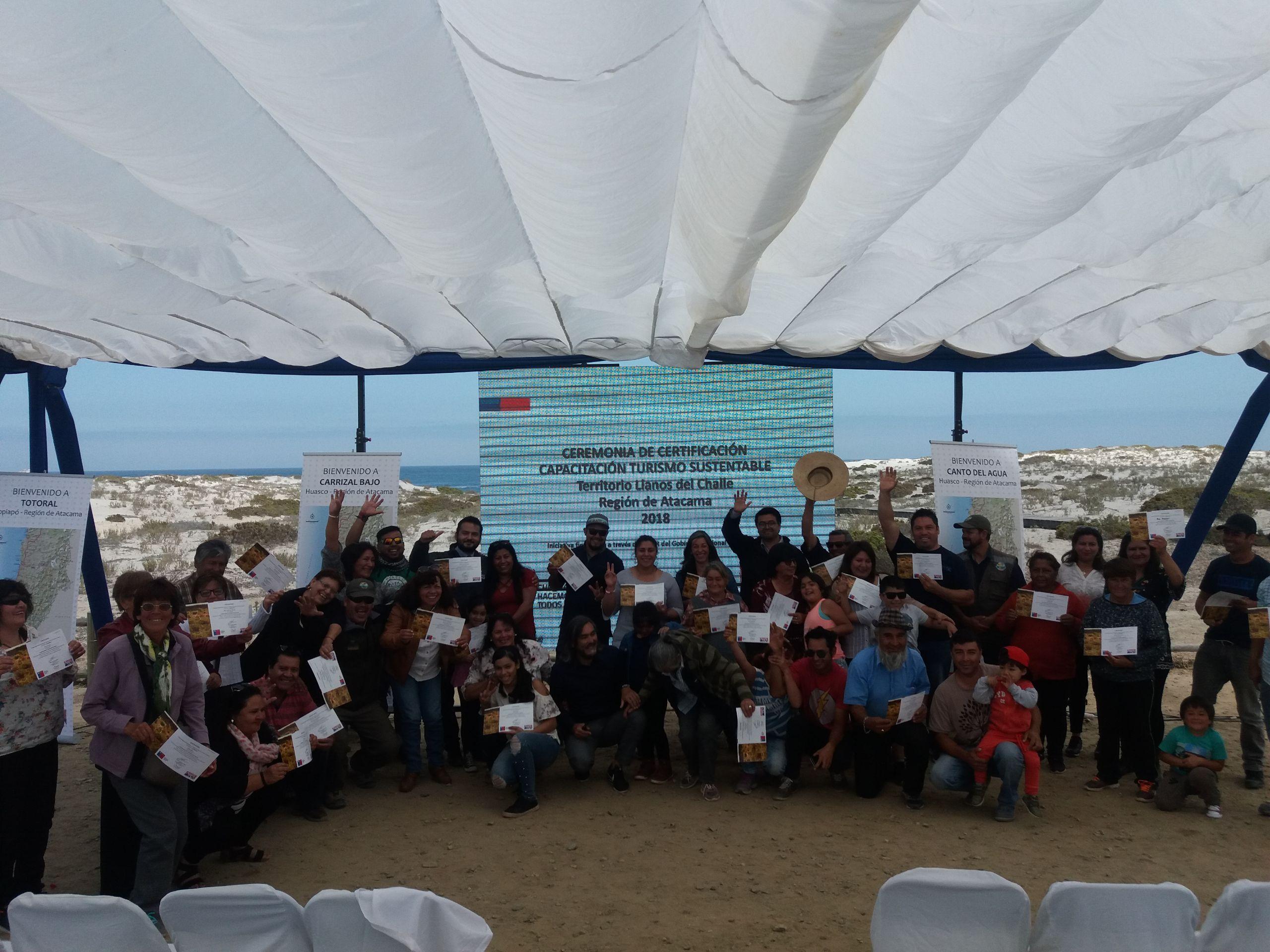 36 vecinos del sector de Llanos de Challe se capacitaron en Turismo Rural