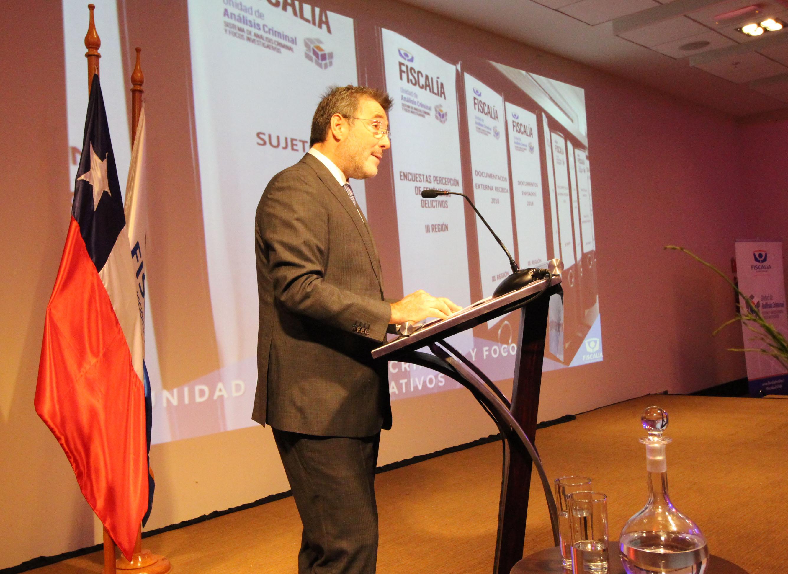 """Fiscal Regional: """"En el año 2018 la Fiscalía de Atacama obtuvo 6 mil 323 sentencias condenatorias"""""""