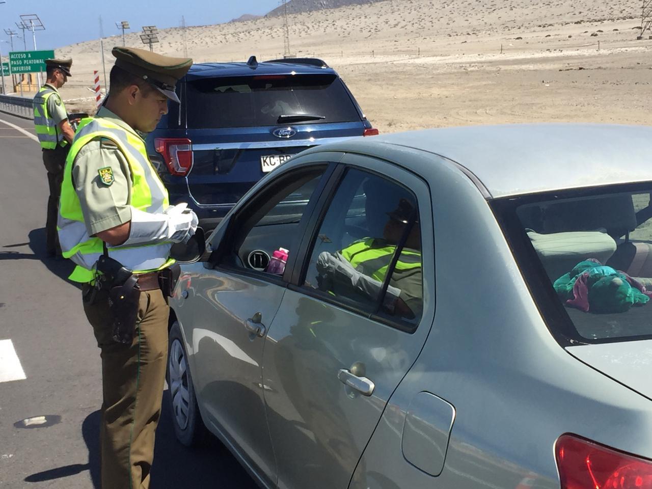 Incrementan controles preventivos en rutas de Atacama