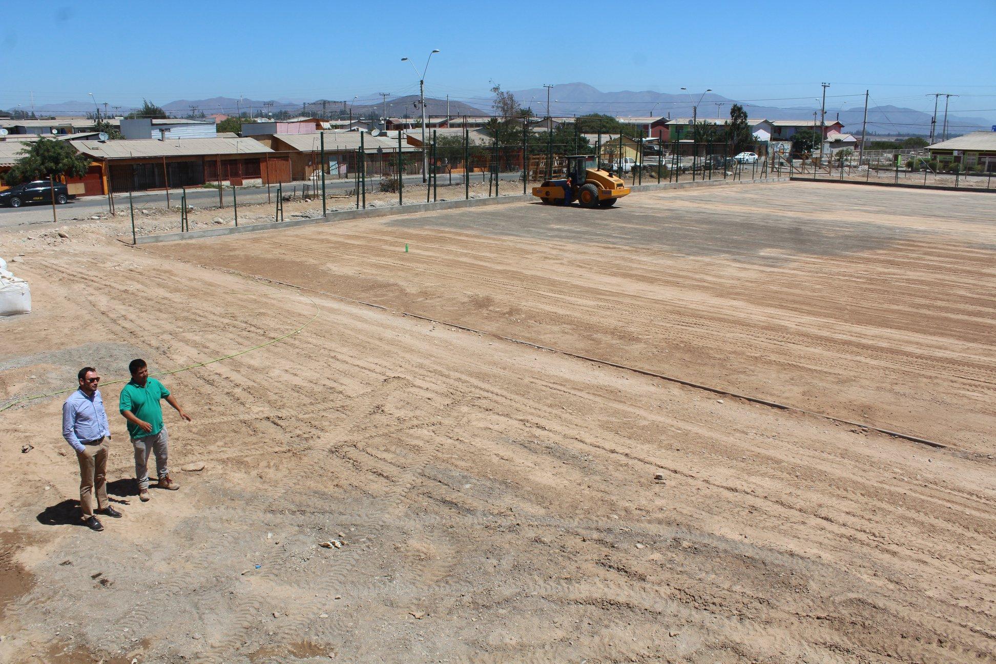 Avanzan las obras del complejo deportivo Villa El Edén