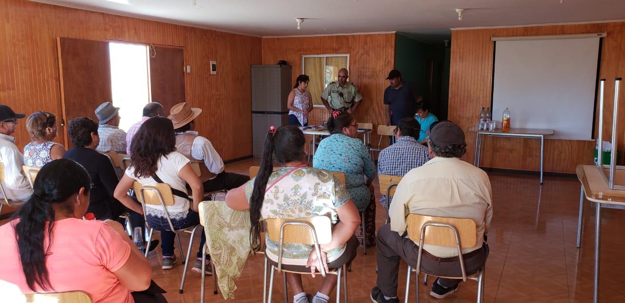 Carabineros se reunió  con crianceros de Cachiyuyo-Domeyko e Incahuasi