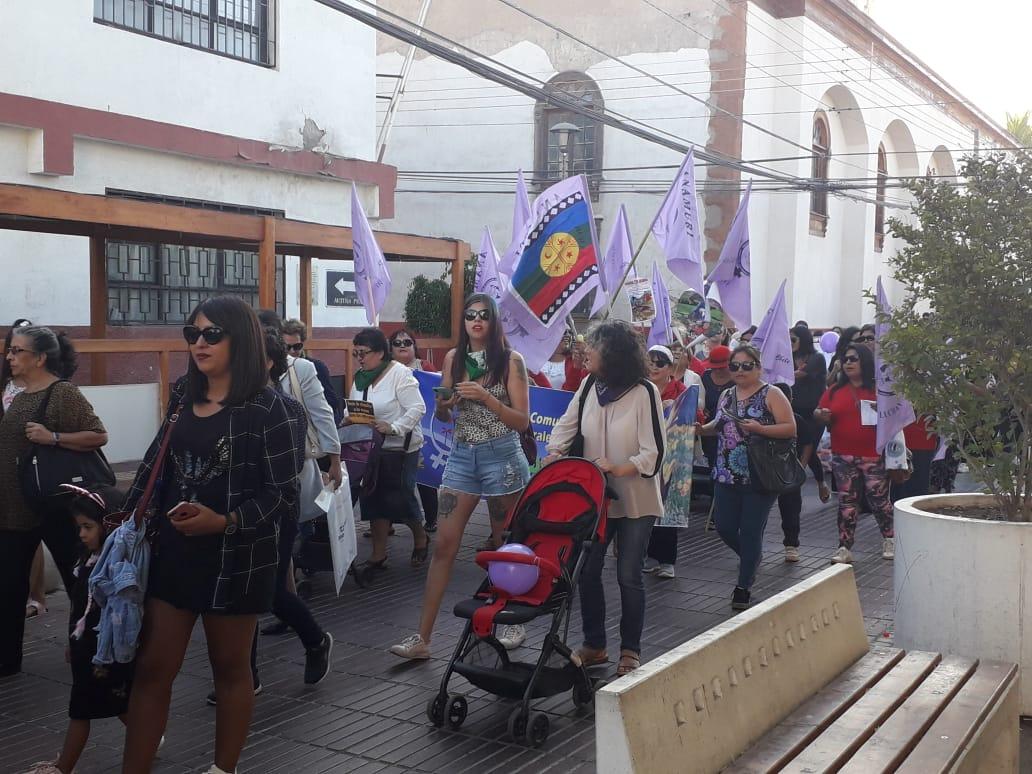 Marcha de 8M en Vallenar cuestiona labor de instituciones en casos de violencia contra mujeres (Galería de Imágenes)