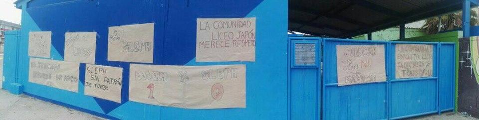 Liceo Japón de Huasco en huelga indefinida por problemas con SLEP