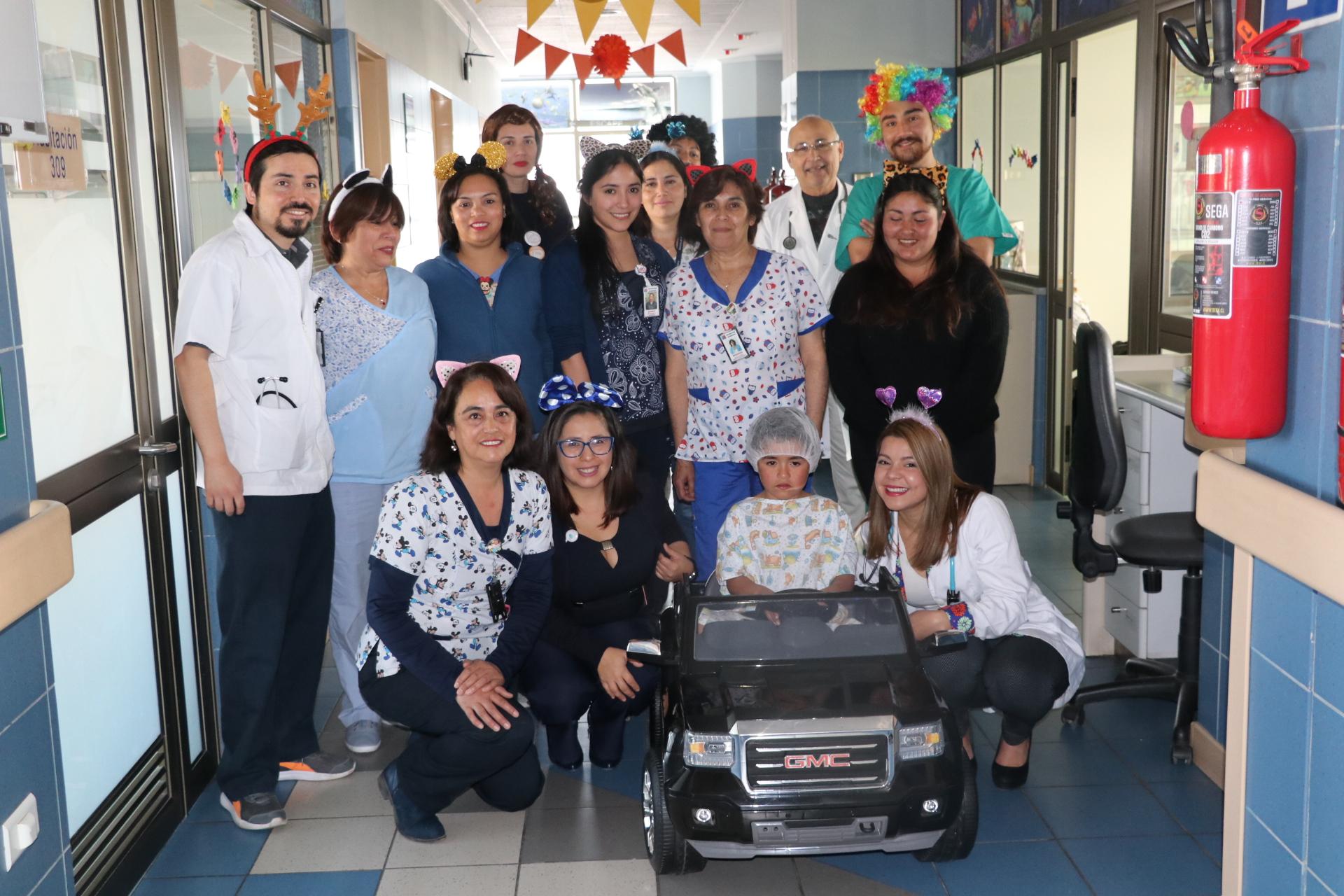 Hospital implementa innovadora iniciativa que busca disminuir estrés en niños antes de operarse