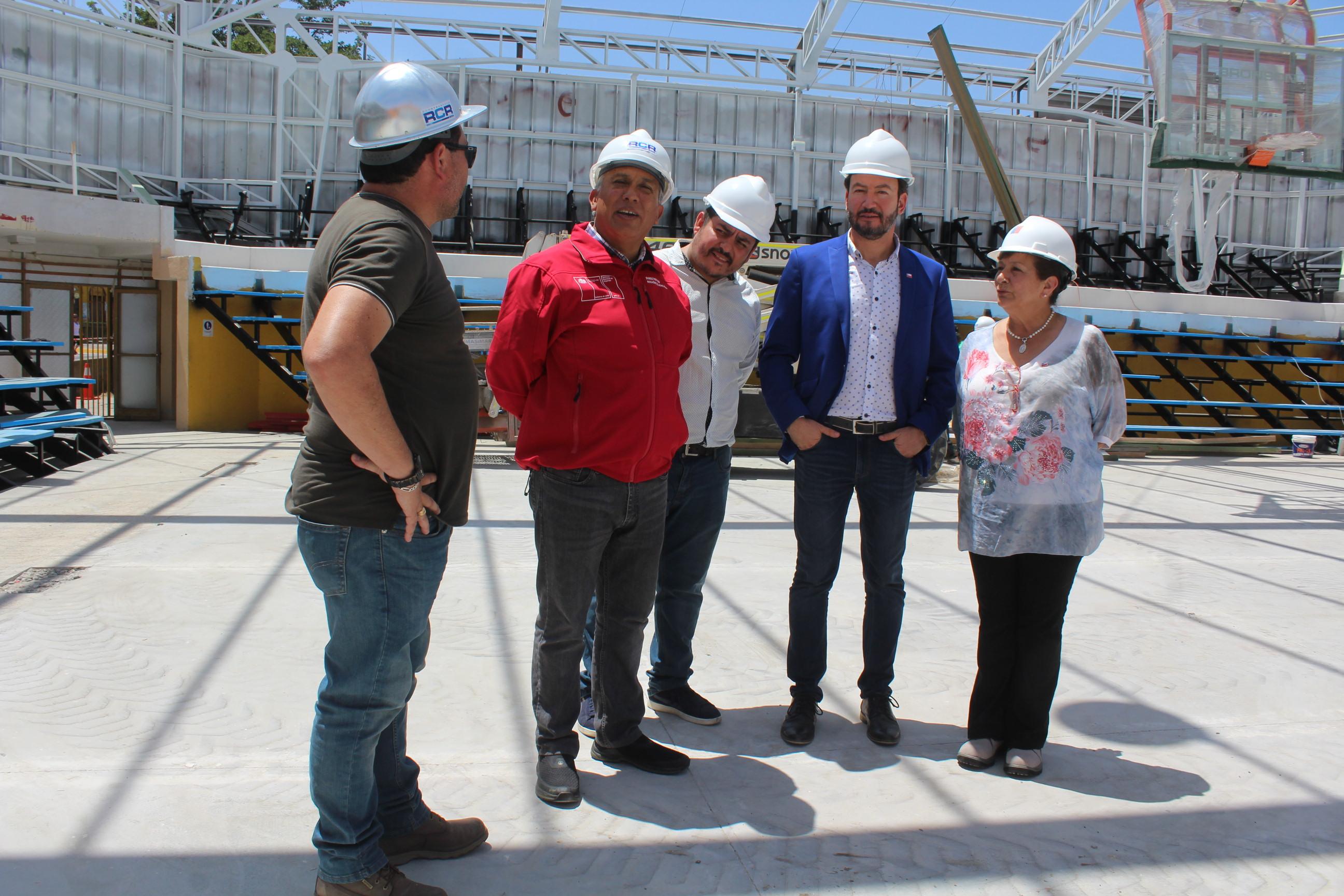 Obras del estadio techado de Vallenar tienen más de 60% de avance