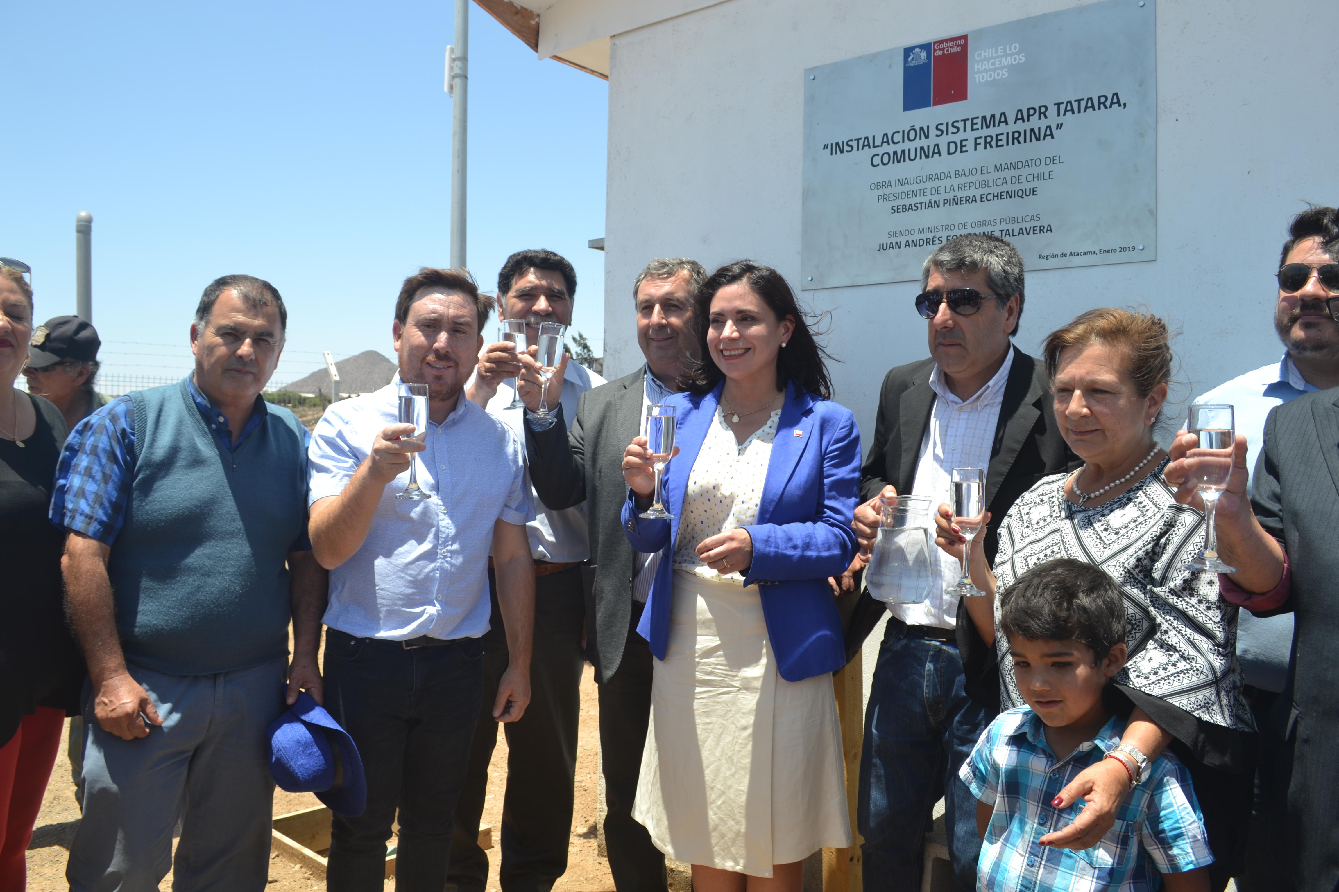 Vecinos de Tatára en Freirina ya cuentan con agua potable