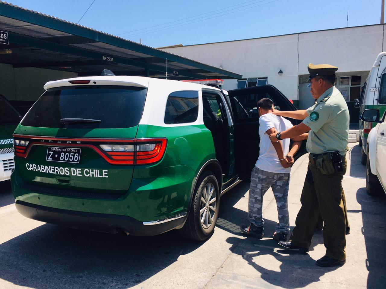 Carabineros detiene a autor de homicidio en Vallenar