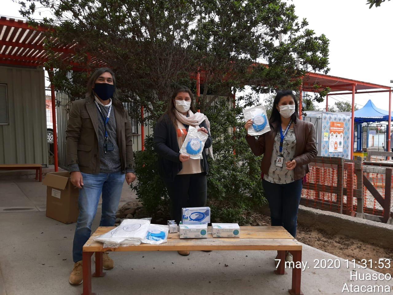 CMP entrega elementos de protección a funcionarios de la salud en Huasco y Freirina