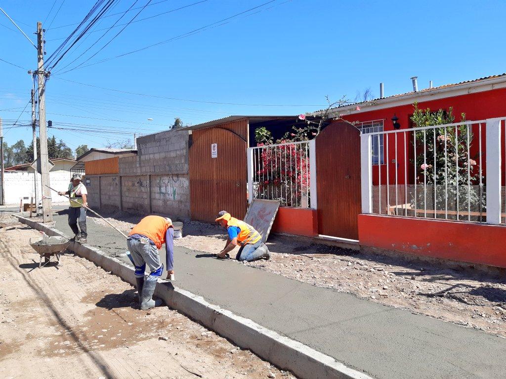 Avanzan obras Minvu de pavimentación participativa en Vallenar