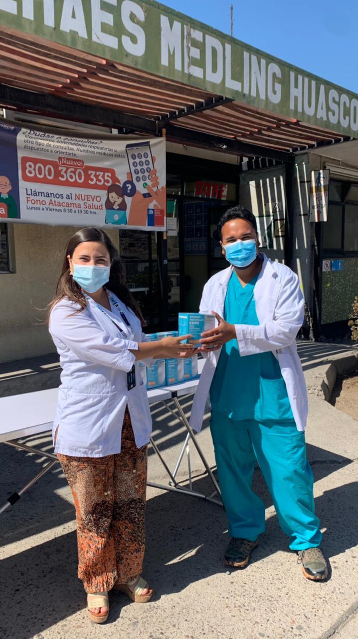 Colmed Atacama dona 200 mascarillas kn-95 a hospital de Huasco