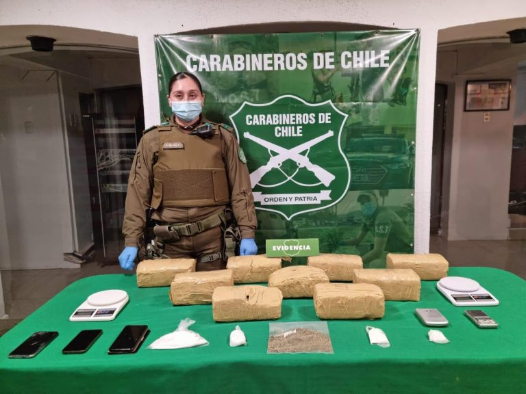 Encuentran 9 kilos de marihuana al interior de una maleta en La Ligua
