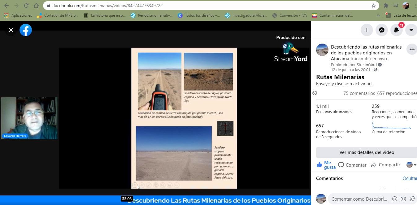 Presentan libro digital y microdocumentales sobre rutas milenarias de los pueblos originarios de Atacama