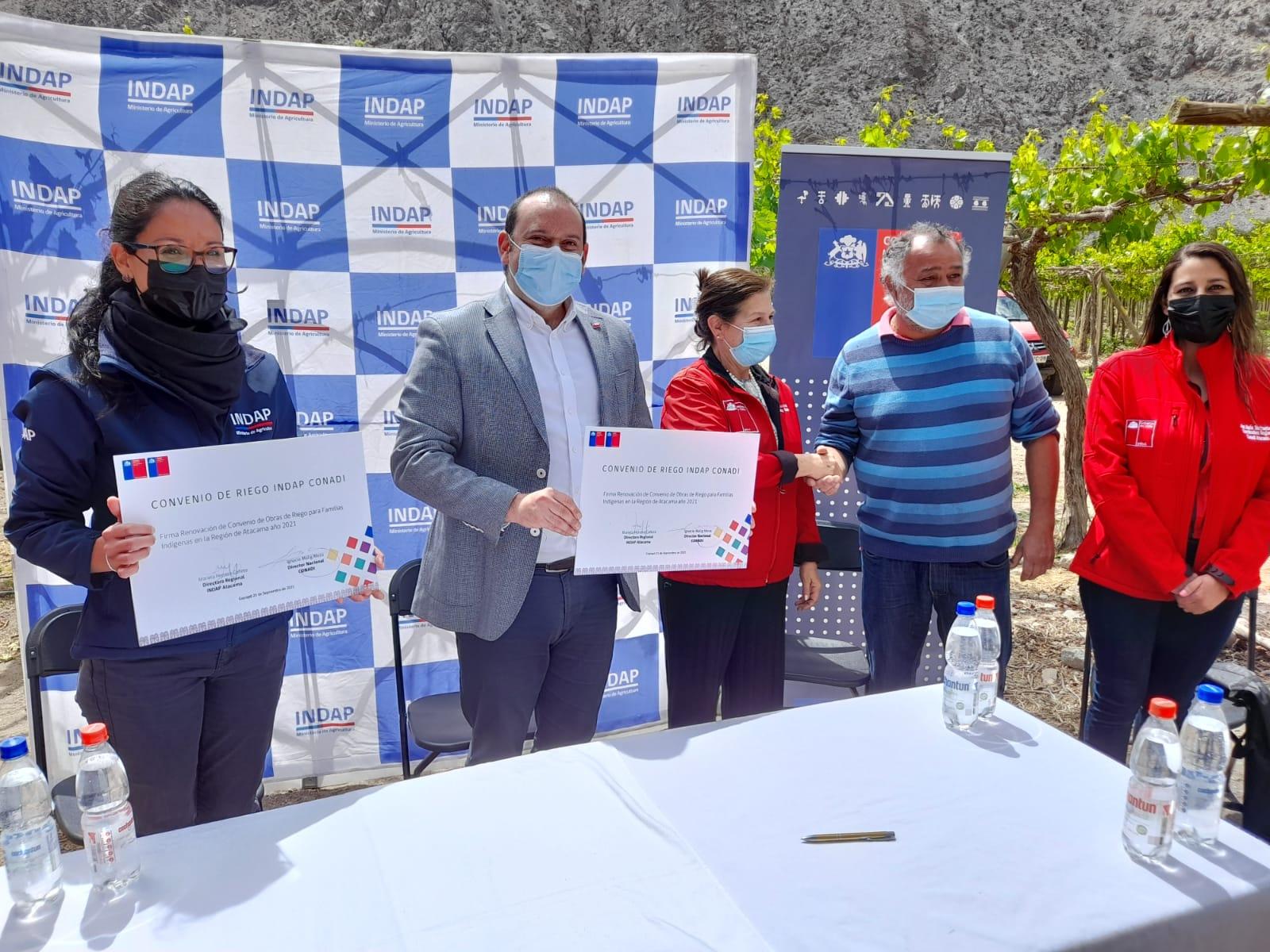 Corporación Nacional de Desarrollo Indígena entrega más de 1.000 millones en recursos para iniciativas de riego de indígenas en la Región de Atacama