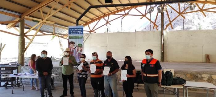 En Conay preparan  equipos comunitarios de emergencia