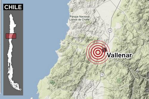 Temblor de 5.1 se registró en la Provincia del Huasco