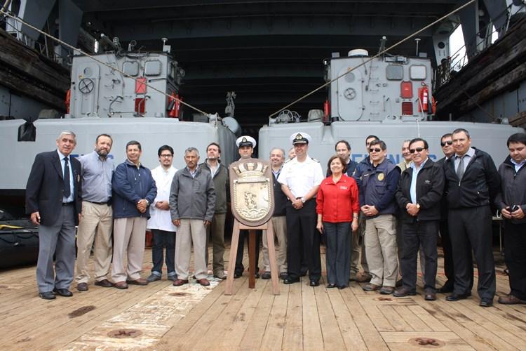 Buque multipropósito de la armada de Chile recaló en la bahía de Huasco