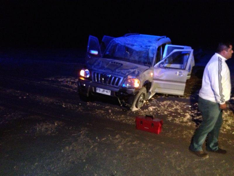 Nuevo accidente al norte de Vallenar deja dos personas lesionadas