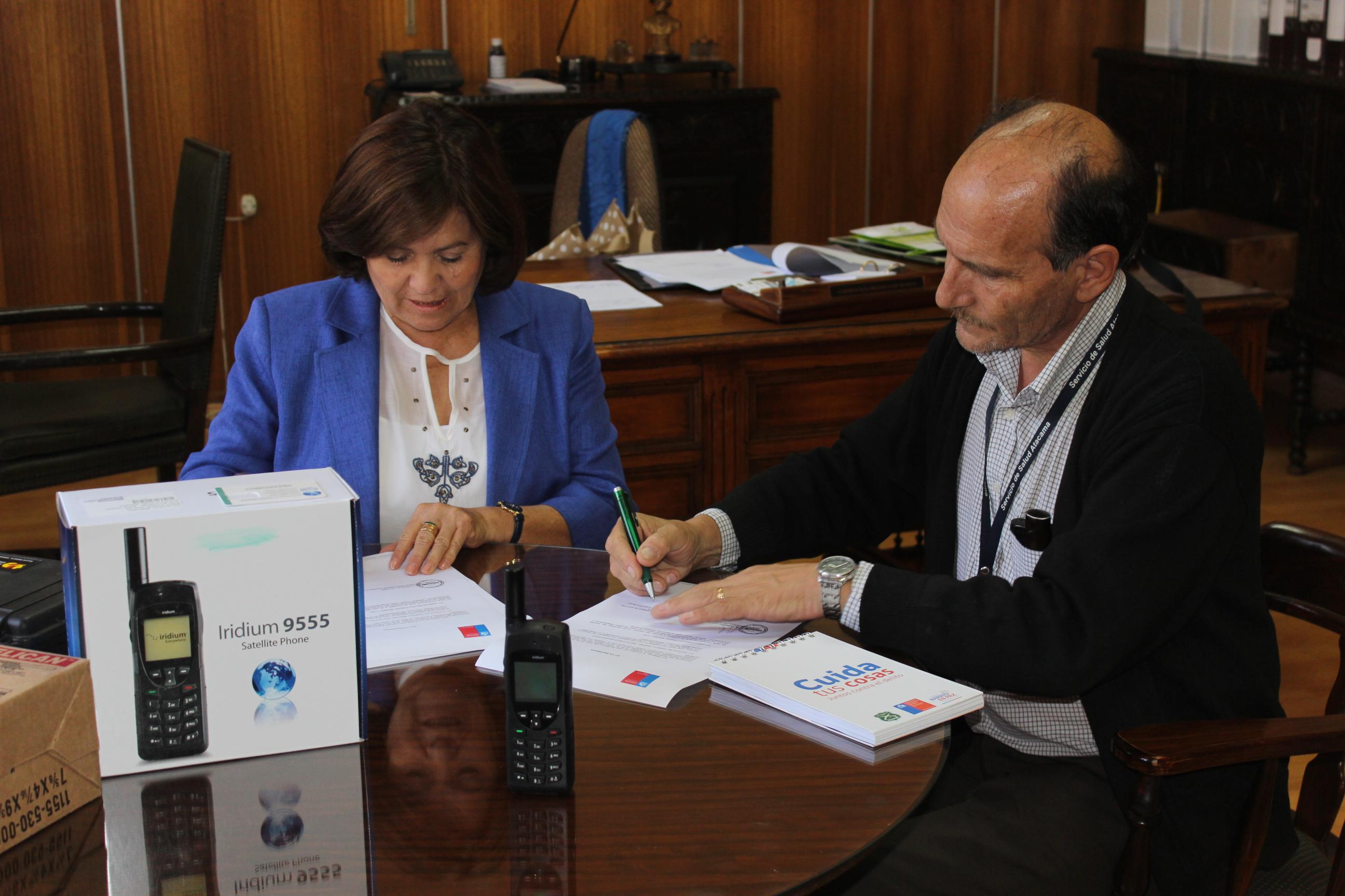 Hospital Provincial cuenta con nuevo teléfono satelital para emergencias