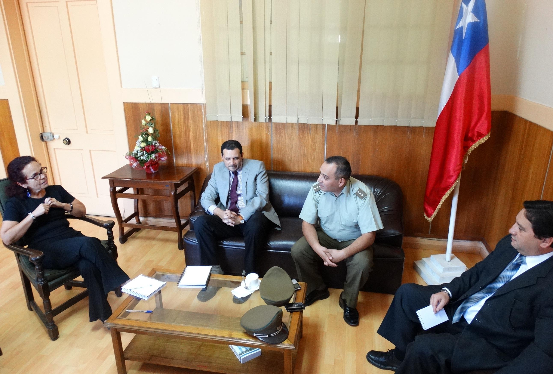 Encuentro con las policías sostuvo gobernadora del Huasco