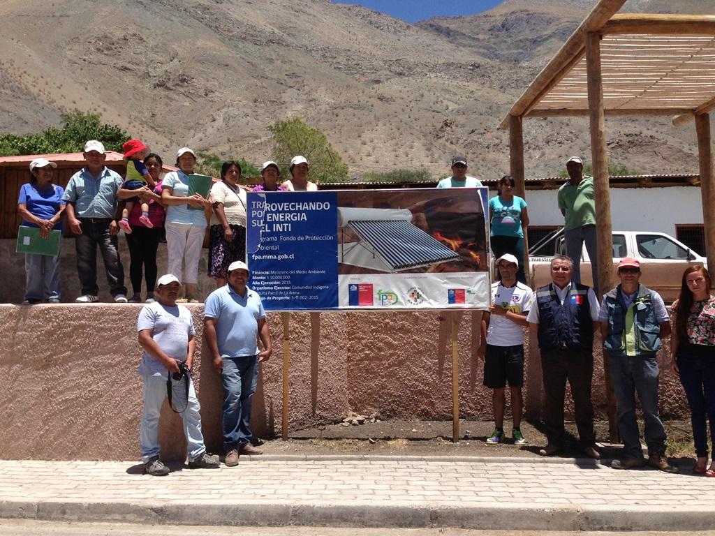Familias de comunidades indígenas del Valle del Huasco cuentan con termos solares