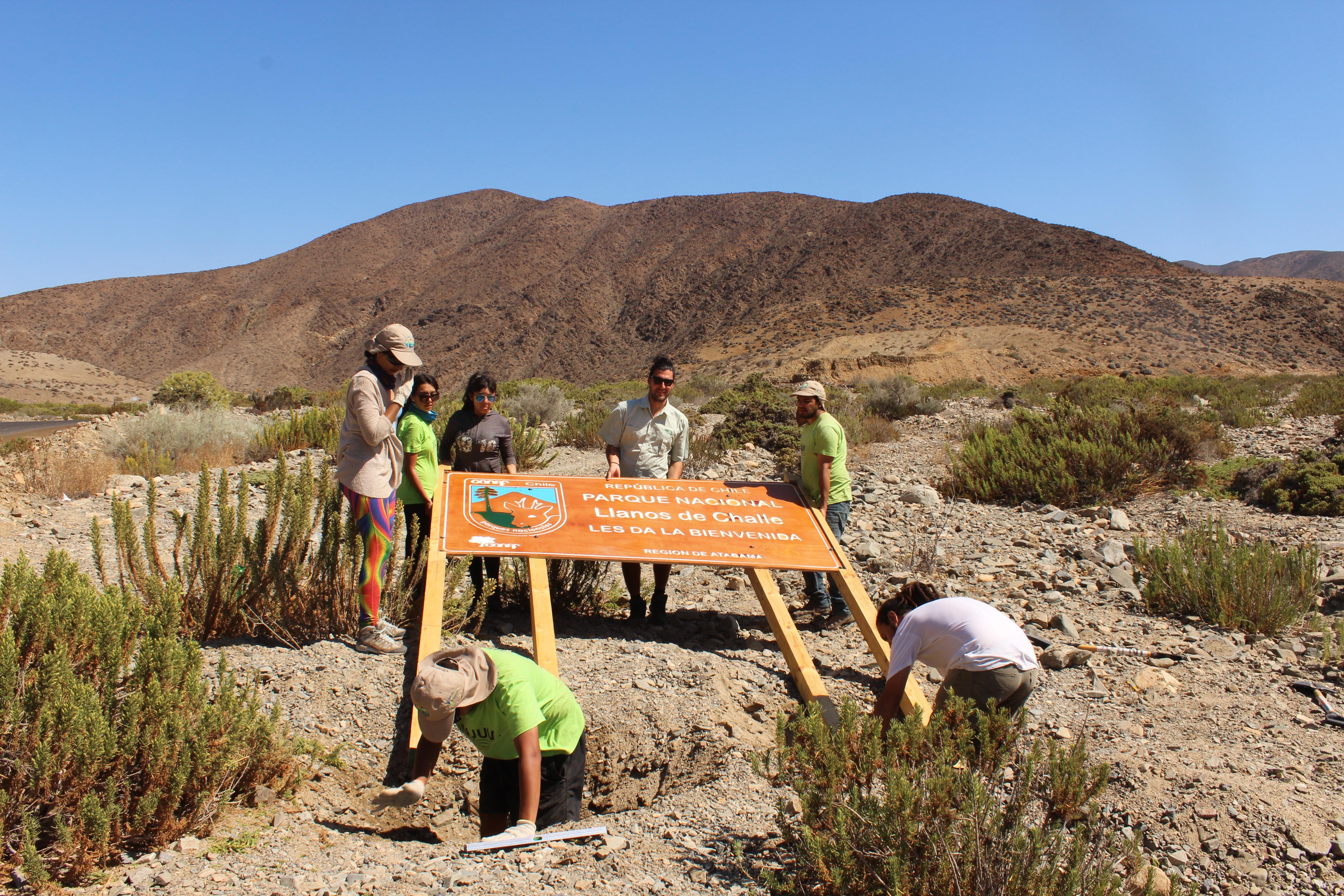 Llanos de Challe fue remozado por los voluntarios de Vive tus Parques 2016