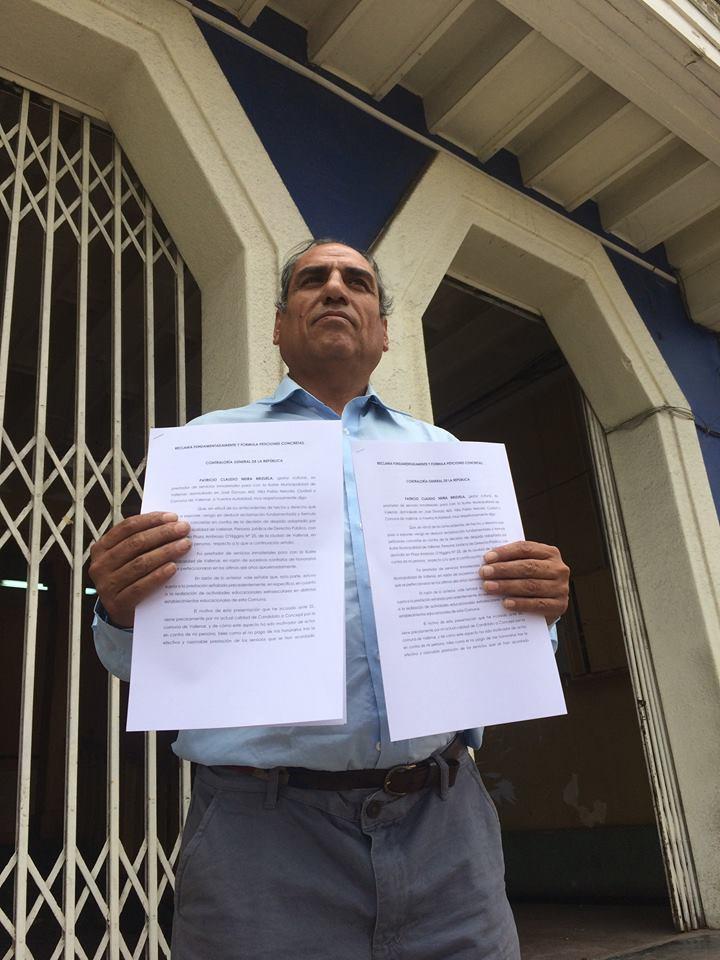 """Candidato denuncia a municipio por supuesto """"despido injustificado"""""""