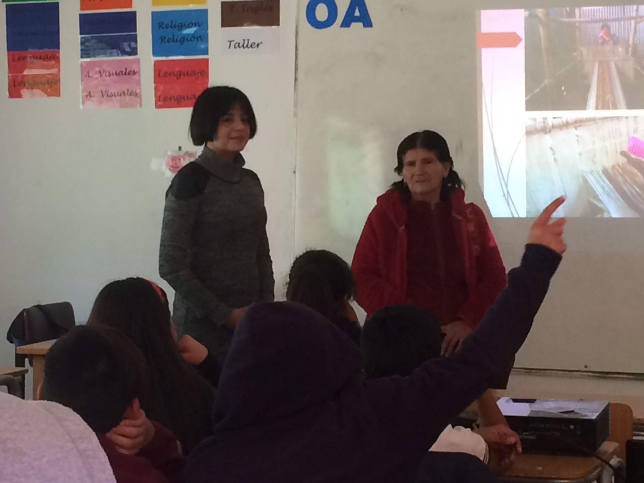 Concluye proyecto que realiza rescate oral del telar palo plantado  en de Alto del Carmen
