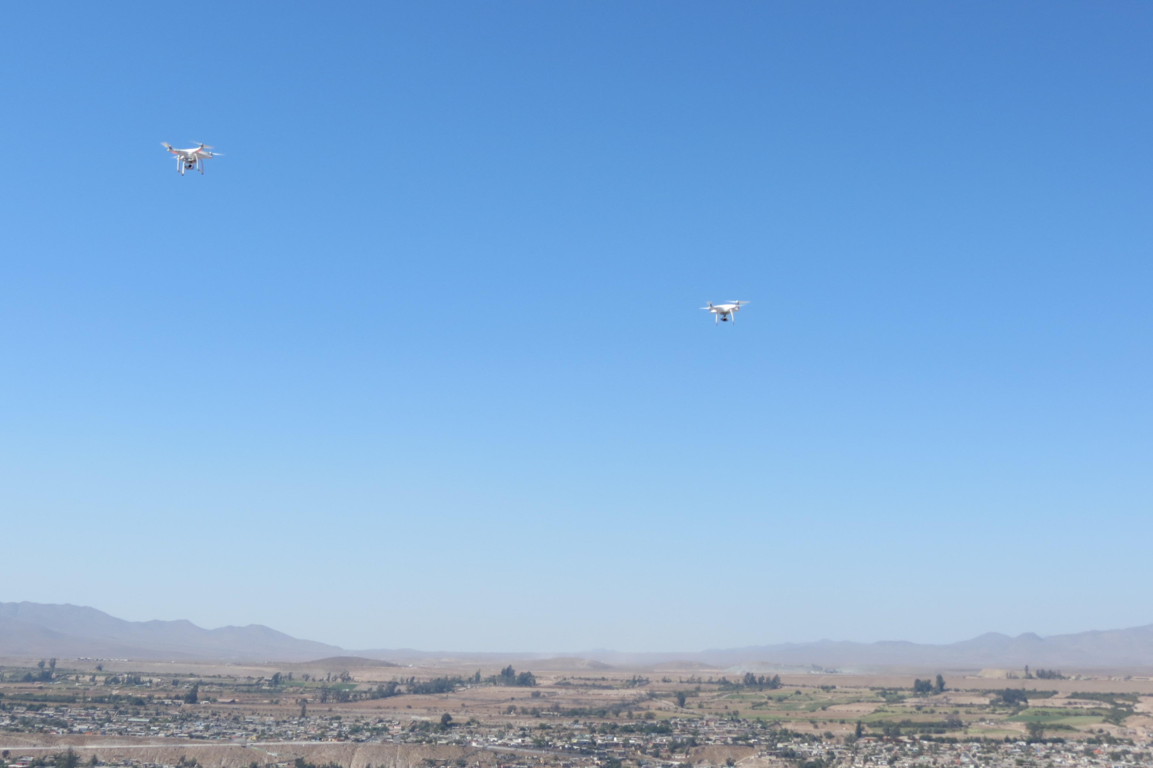 Comienzan pruebas con drones para apoyar seguridad pública en Vallenar