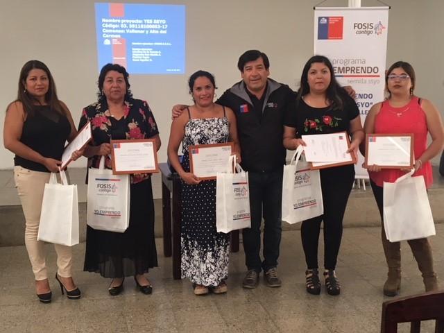 En Vallenar se dio egreso a emprendedores apoyados por el FOSIS