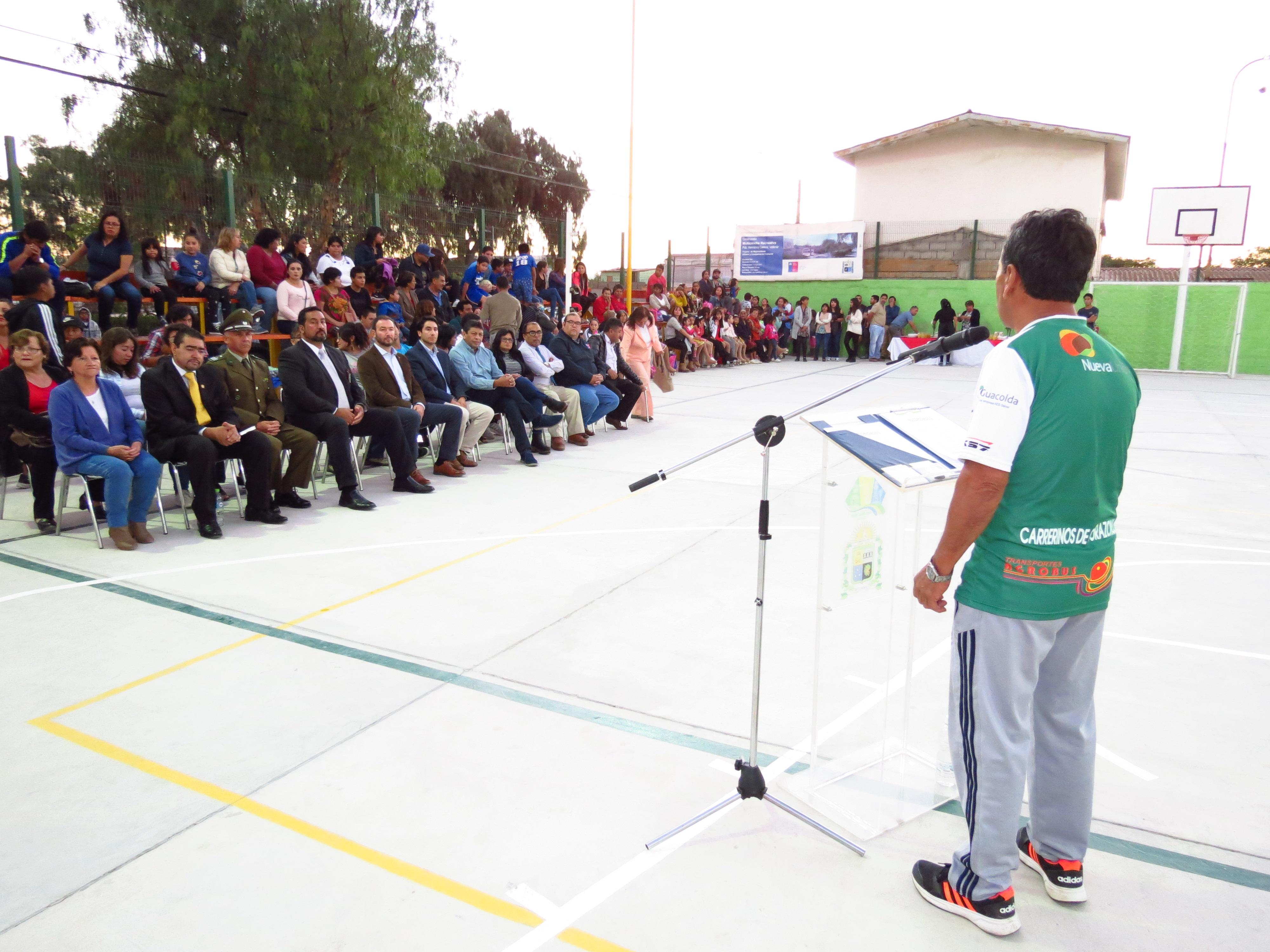 Inauguran multicancha recreativa  en población Hermanos Carrera de Vallenar