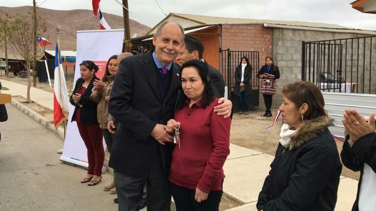 Inauguran 9 viviendas rurales en la localidad minera de Domeyko