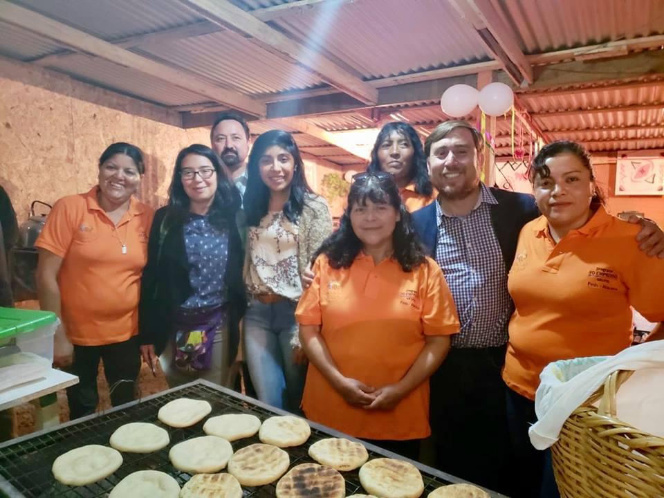 Mujeres de Tatara inauguran mejores instalaciones para venta de churrascas