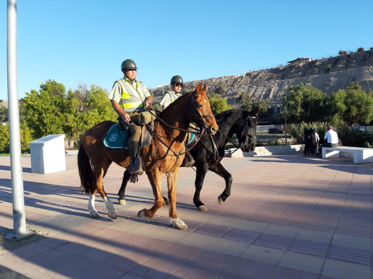 Carabineros reforzó los servicios preventivos a través de patrullajes montados