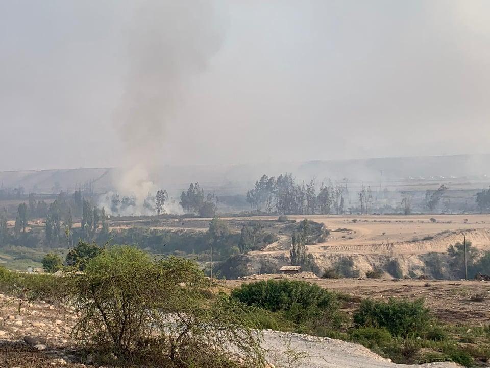 Controlan incendio en Hacienda Ventanas