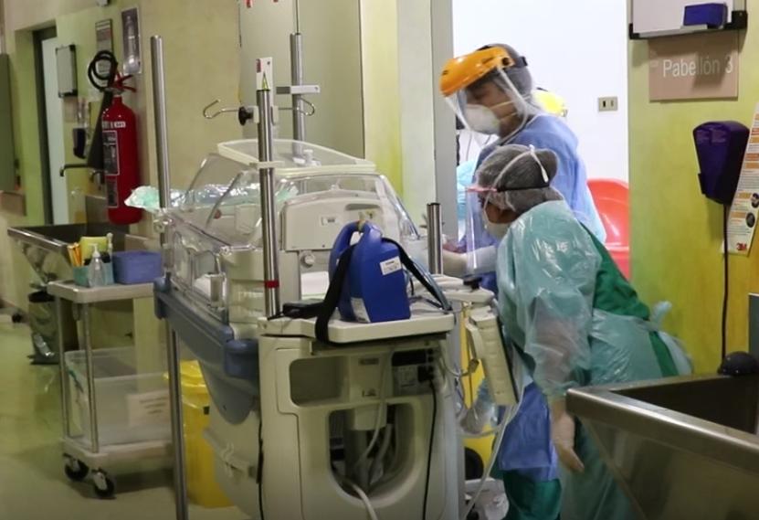 Equipo clínico del HPH atiende primer parto en embarazada con Covid 19 positivo