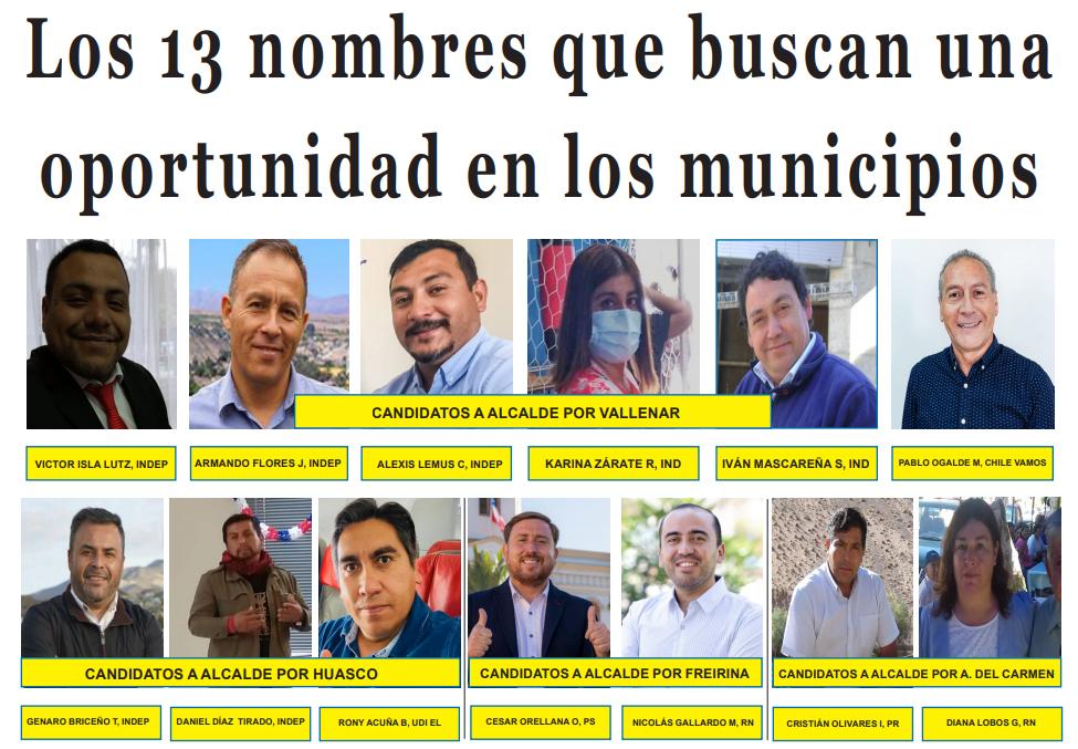 Los 13 nombres que buscan una oportunidad en los municipios