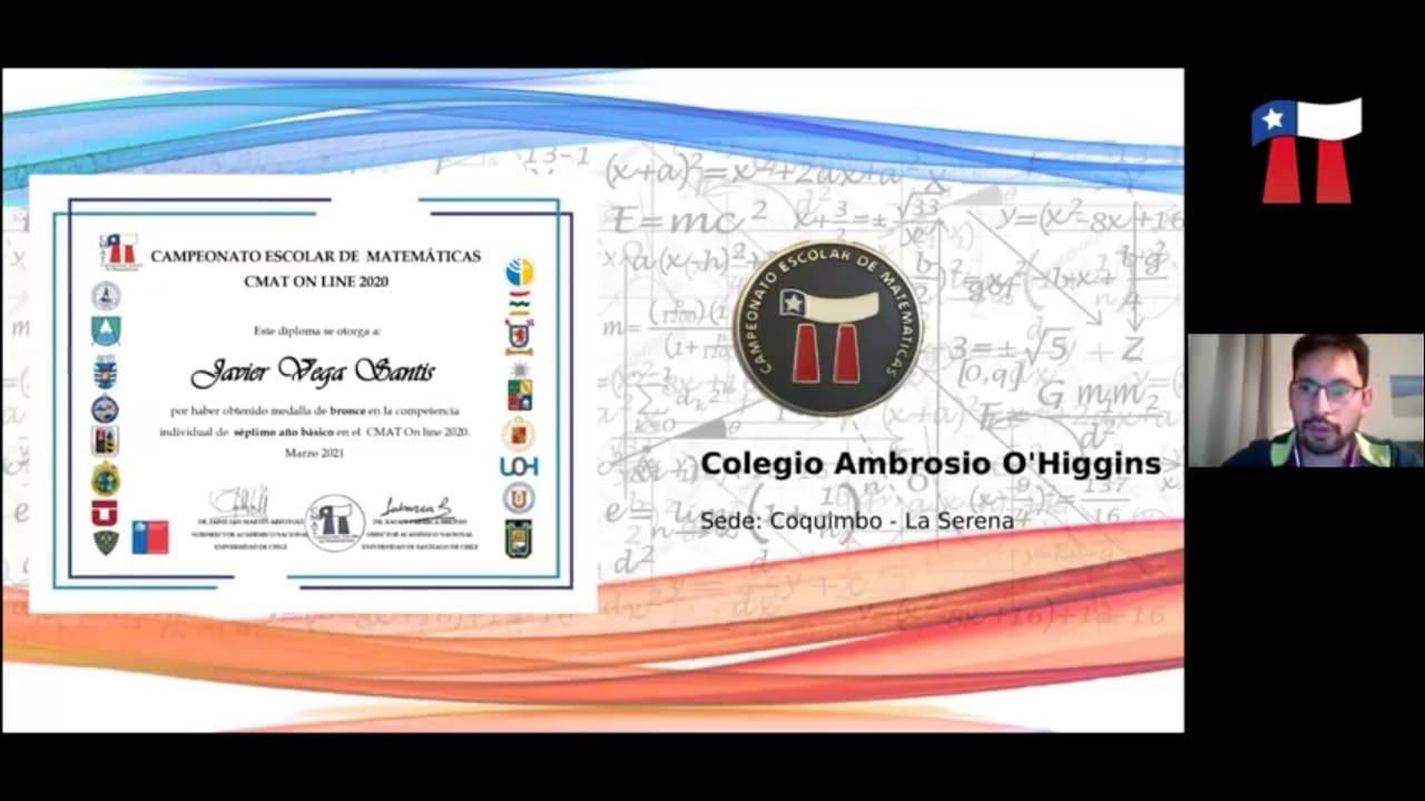 Colegio Ambrosio O'Higgins alcanza sexto lugar nacional en torneo de matemáticas