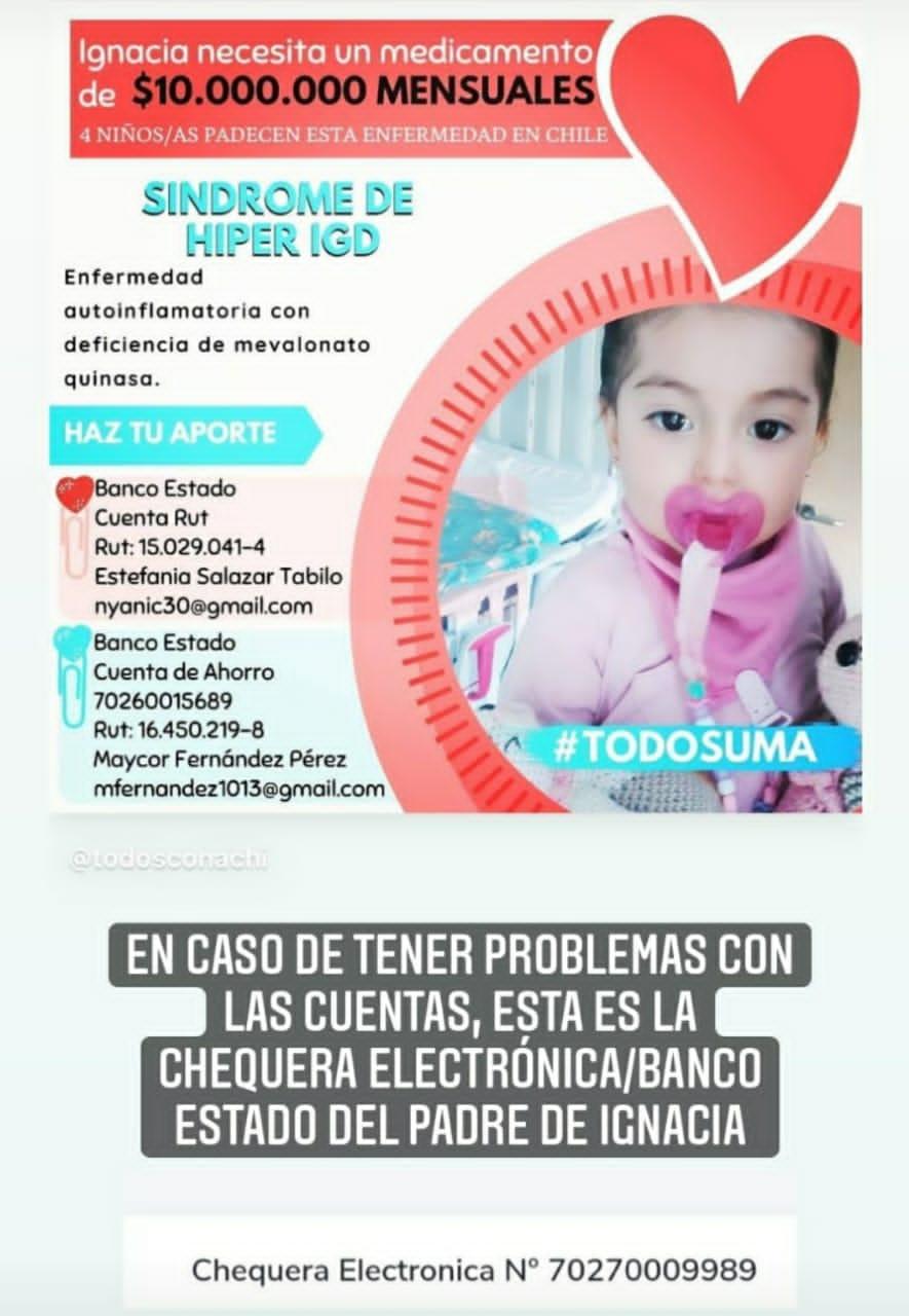 Familia busca costear tratamiento de extraña enfermedad en menor en Freirina