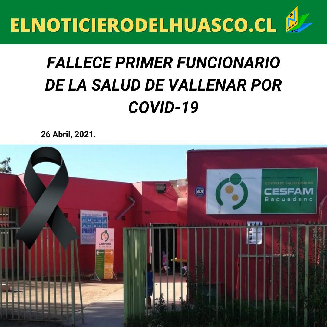 Fallece primer funcionario de la salud por covid-19 en Vallenar