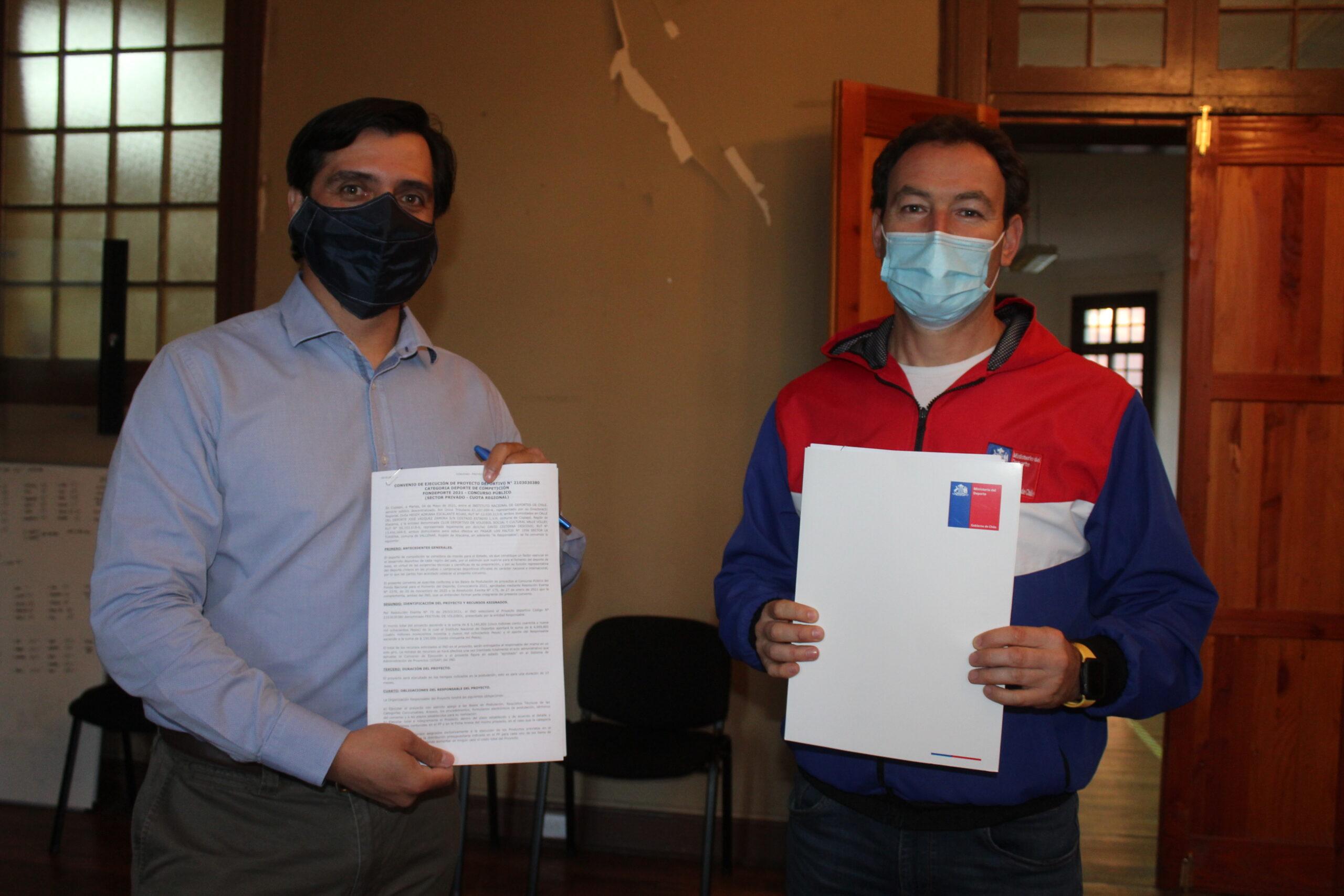 MINDEP-IND Atacama apoyan la organización de festivales de vóleibol en Vallenar