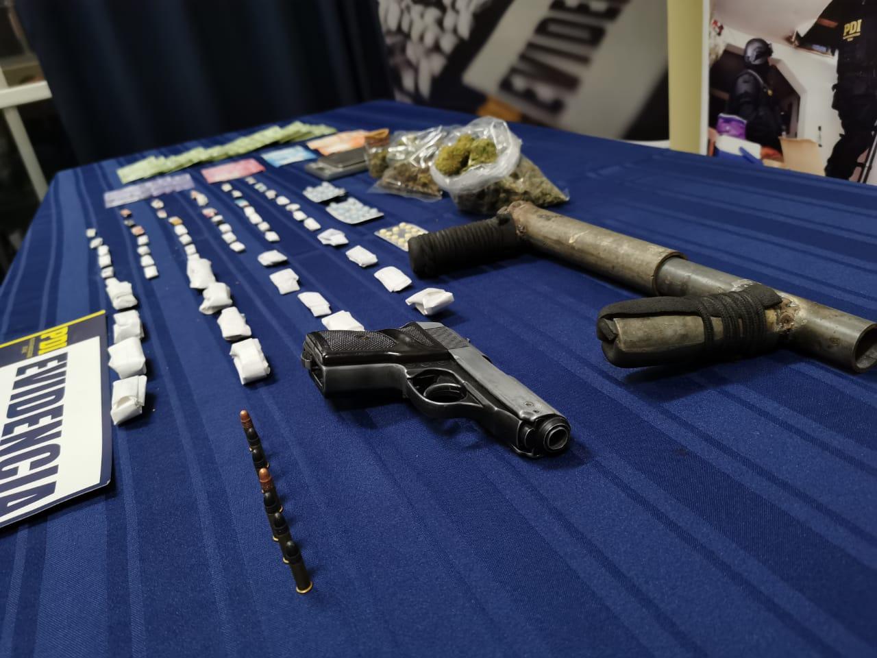PDI INCAUTÓ DROGAS Y ARMAS EN PROCEDIMIENTO POLICIAL EN VALLENAR