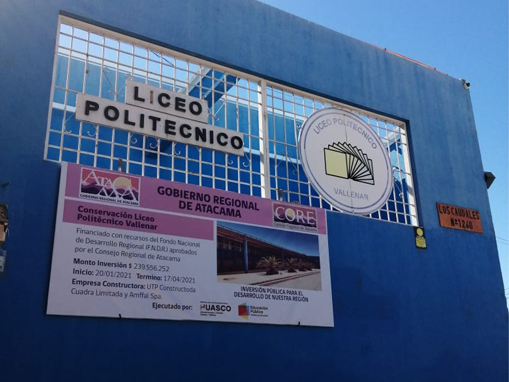 Liceo Politécnico de Vallenar se adjudica cerca de 90 millones en equipamiento